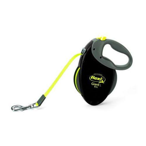 smycz automatyczna special giant l taśma czarno-żółta 8m - do 50kg marki Flexi