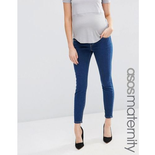 Asos maternity  ridley skinny jean in kioshi wash with over the bump waistband - blue