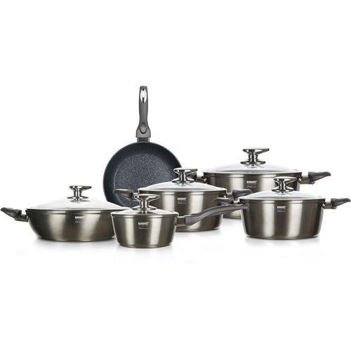 Banquet zestaw kuchenny METALLIC PLATINUM, 11 elementów