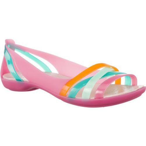 Sandały isabella huarche 2 flat w paradise pink/rose dust paradise pink/rose dust marki Crocs