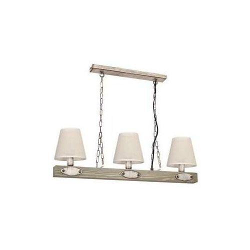 Luminex Carin 1271 lampa wisząca zwis 3x60W E27 beżowy brzoza