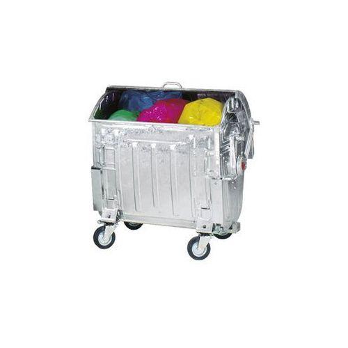 Duży pojemnik na odpady, ocynkowany, z zabezpieczeniem przed dostępem dzieci, po