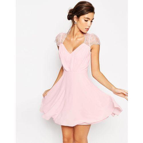 ASOS Kate Lace Mini Dress - Pink
