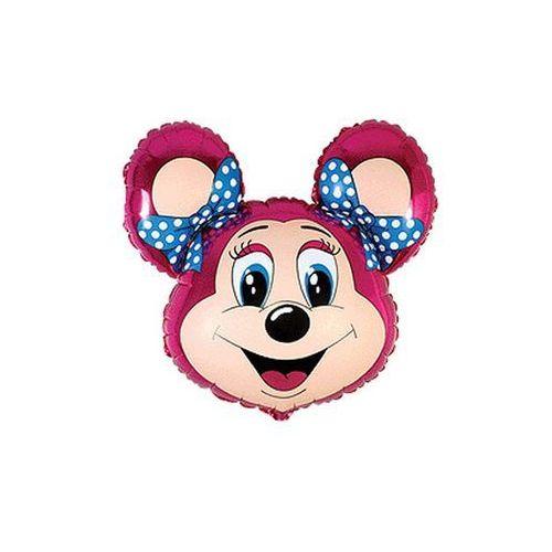 Balon foliowy babsy mouse - różowa myszka - 61 cm - 1 szt. marki Flx