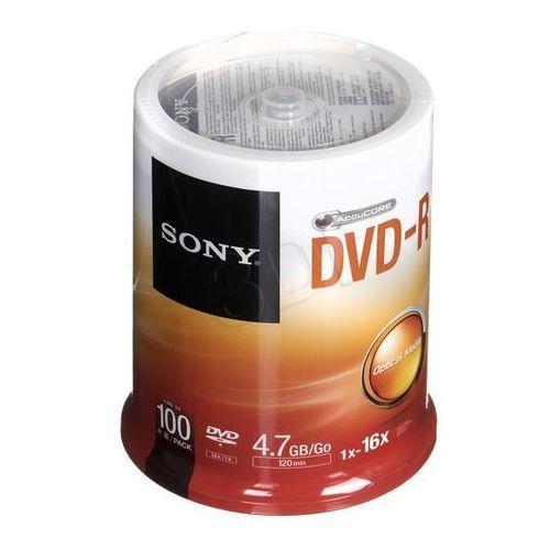 Płyty dvd-r sony 4,7gb 16x cake100szt. marki Sony