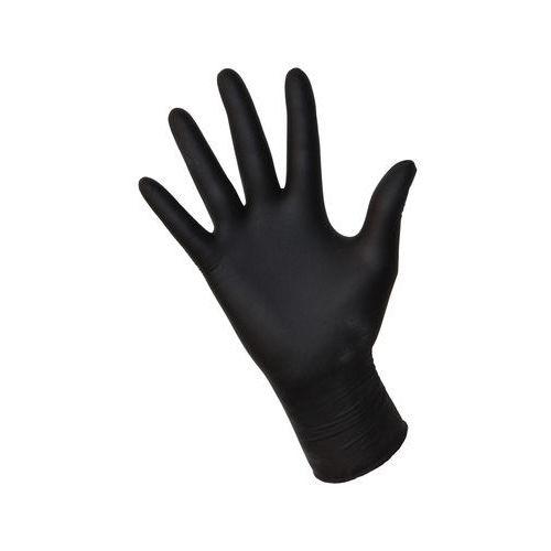 Rękawiczki nitrylowe bezpudrowe czarne rozm.L