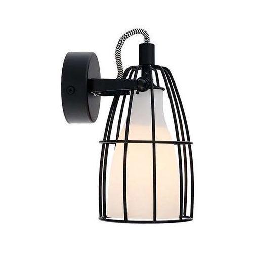 Kinkiet LAMPA ścienna FRAME 1 50571101 Kaspa druciana OPRAWA reflektorek klatka loft czarna