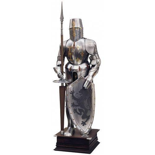 Płatnerze hiszpańscy Zbroja rycerska 1:1 z xvi w. z tarczą i kopią (905)