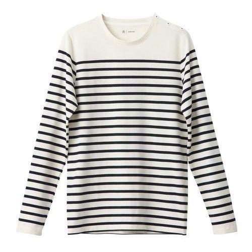 T-shirt z długimi rękawami, okrągły marynarski dekolt, 100% bawełny marki R essentiel