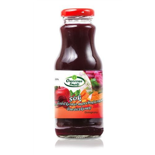 Owocowe smaki Sok jabłkowo - marchwiowo - buraczkowy bio 12x250ml - (5902768762679)