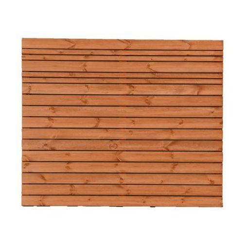 Werth-holz Płot ażurowy 180x150 cm drewniany goteborg wiśnia (5902860166627)