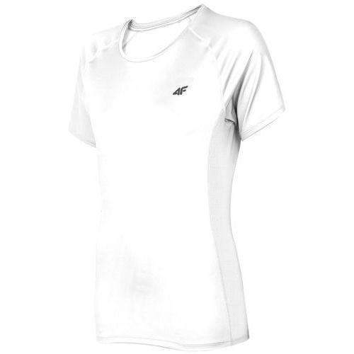 Damska koszulka fitness h4l19 tsdf002 biały 10s l marki 4f