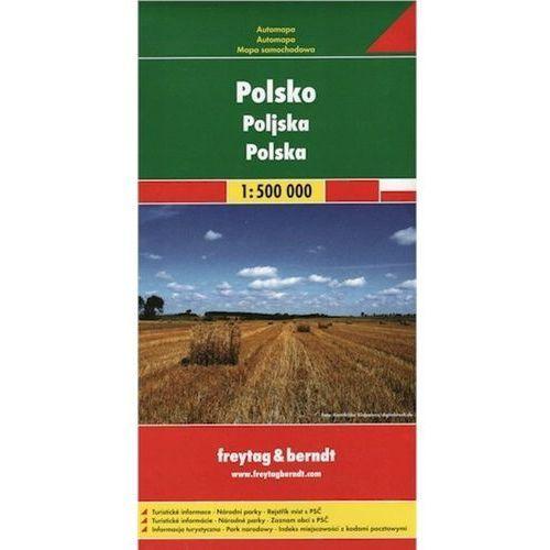Automapa Polsko 1:500 000 freytag & berndt (9783707910056)