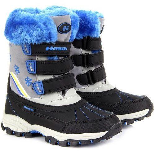 OKAZJA - Śniegowce dziecięce z membraną softshell wodoodporne Hasby - niebieski, kolor niebieski