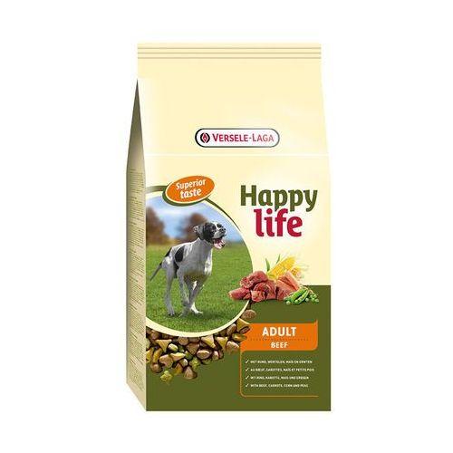 VERSELE-LAGA Happy life adult beef 15 kg- RÓB ZAKUPY I ZBIERAJ PUNKTY PAYBACK - DARMOWA WYSYŁKA OD 99 ZŁ (5410340311042)