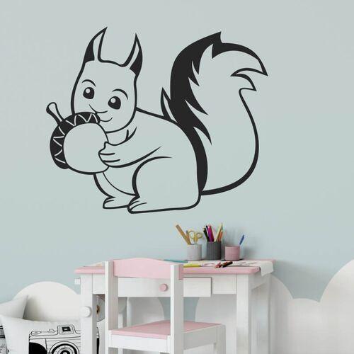 Wally - piękno dekoracji Naklejka na ścianę dla dzieci wiewiórka 2412