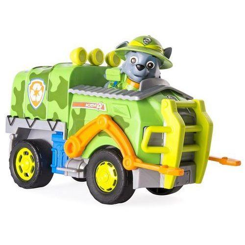 psi patrol rocky śmieciarka pojazd jungle z figurką marki Spin master