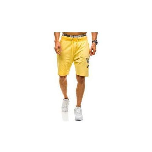 Krótkie spodenki dresowe męskie żółte denley 4449 marki Nature