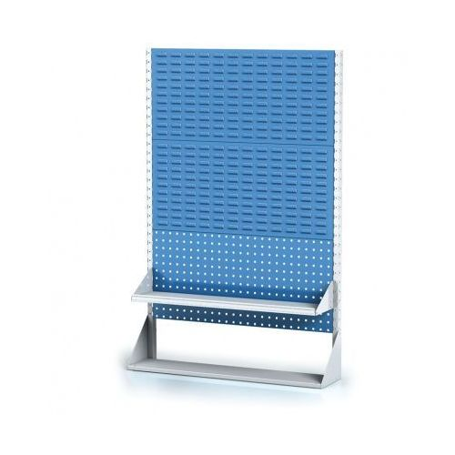 Perforowany stojak z panelem na pojemniki, narzędzia i półkę 3 piętra, podstawowe pole marki B2b partner