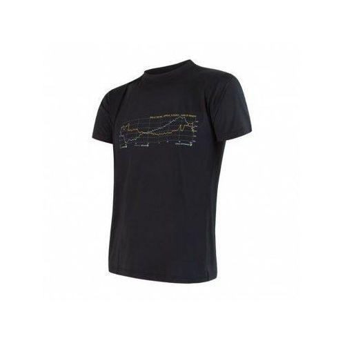 SENSOR Termoaktywna koszulka męska COOLMAX FRESH PT TEE SS - rozmiar XL - kolor czarny (8592837048161)