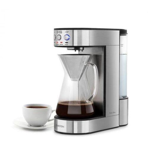 Klarstein perfect brew ekspres do kawy 1800w szkalny dzbanek stal nierdzewna srebrny (4060656104381)