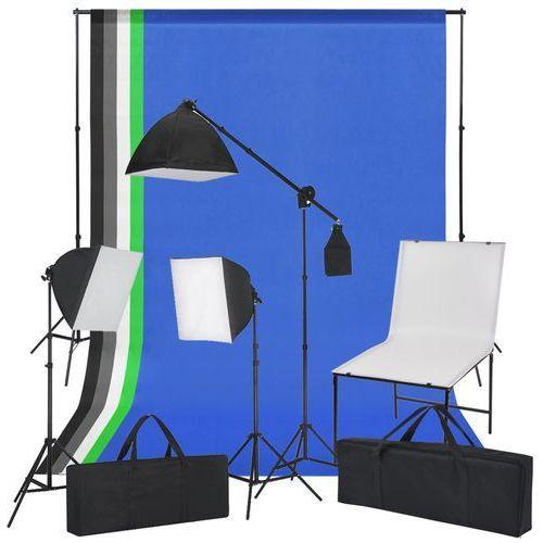 Vidaxl zestaw do studia ze stołem fotograficznym, lampami i tłami (8718475569886)