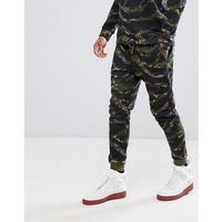 Bershka Slim Fit Jogger In Camouflage - Green, slim