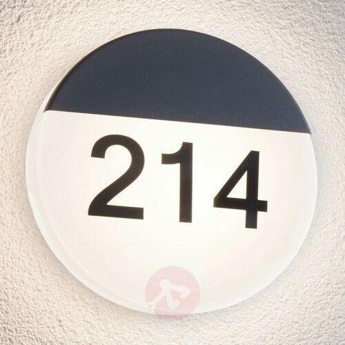 Oświetlenie numeru domu LED Oropos, srebrne, 25561568397