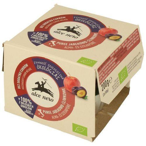 Alce nero (włoskie produkty) Przecier jabłkowo-śliwkowy bio (2 x 100 g) - alce nero