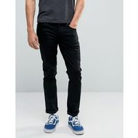 Nudie jEANS GrimTim Slim Jeans Dry Cold Black - Black, kolor czarny