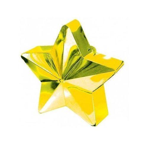 Obciążnik ciężarek do balonów napełnionych helem - Gwiazda złota - 170 g. (0048419246916)
