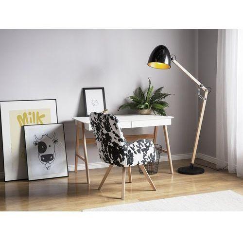 Beliani Lampa stojąca czarna 175 cm hetton