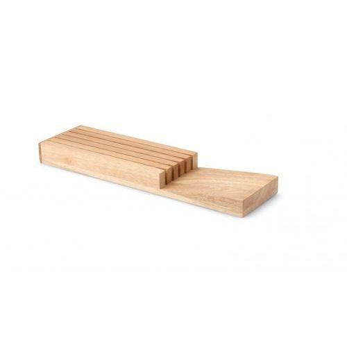 Continenta blok noży do szuflady z drzewa kauczukowego, uchwyt na nóż, blok noży do szuflady na 3 lub 5 (bez nóż), 30518