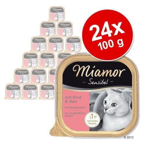 sensibel - wołowina i ryż - szalka 6x100g marki Miamor