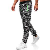 Spodnie męskie dresowe joggery szare Denley 55021, kolor szary