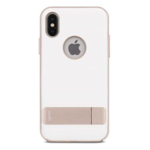 Moshi Kameleon - Etui hardshell z podstawką iPhone X (Coastal Gray), kolor szary