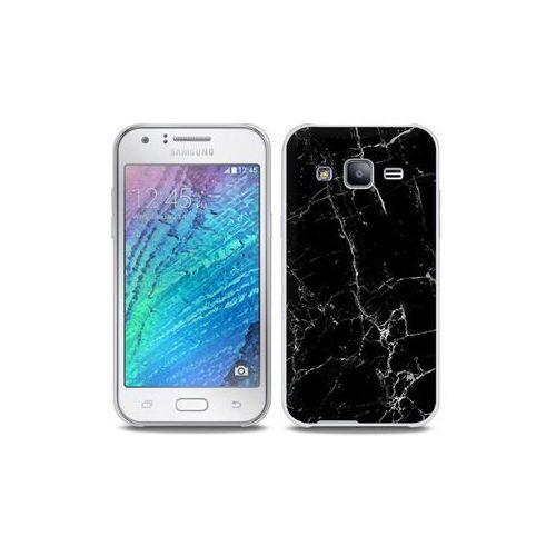 Samsung galaxy j5 - etui na telefon full body slim fantastic - czarny marmur marki Etuo full body slim fantastic