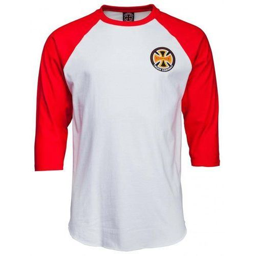 Independent Koszulka - suspension sketch baseball top red/white (red-white) rozmiar: l