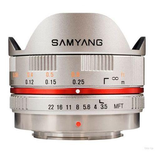 Samyang 7.5 mm f/3.5 umc fish-eye micro 4/3 (szary)