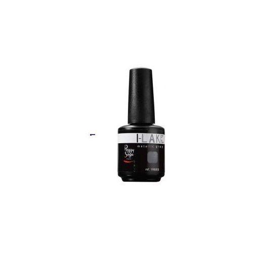 i-lak soak off gel polish (w) lakier do paznokci metallic grey 15ml marki Peggy sage