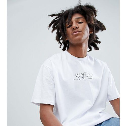 Pull&Bear Exclusive OversizeT-Shirt In White With Logo - White