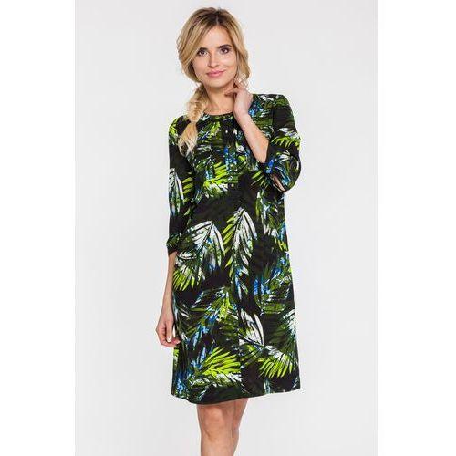 Sukienka w duże palmowe liście - Potis & Verso