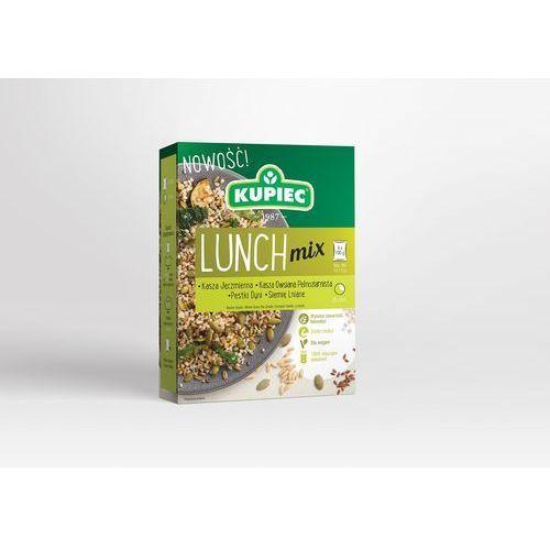 Kupiec Lunch mix kasza jęczmienna, kasza owsiana pełnoziarnista, pestki dyni, siemię lniane (kartonik) 4x100g (5906747175795)