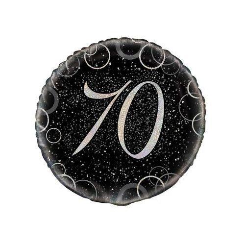 Balon foliowy błyszczący srebrny - 70tka - 47 cm - 1 szt. marki Unique