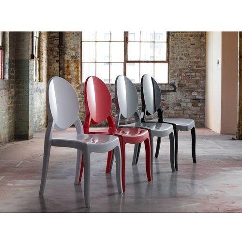 Beliani Krzesło czerwone - krzesło do jadalni, kuchni - merton