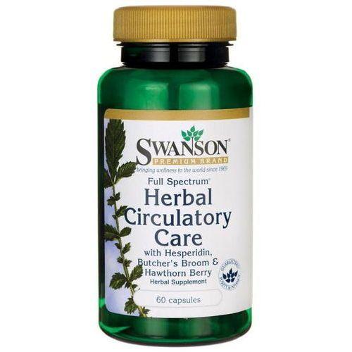 Kapsułki Ruszczyk kolczasty, owoce głogu, hesperedyna FS Herbal Circulatory Care 60 kapsułek SWANSON