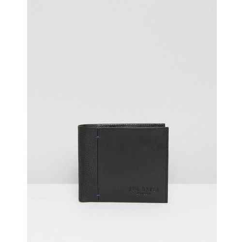 Ted Baker Wallet in Leather with Contrast Spine - Black