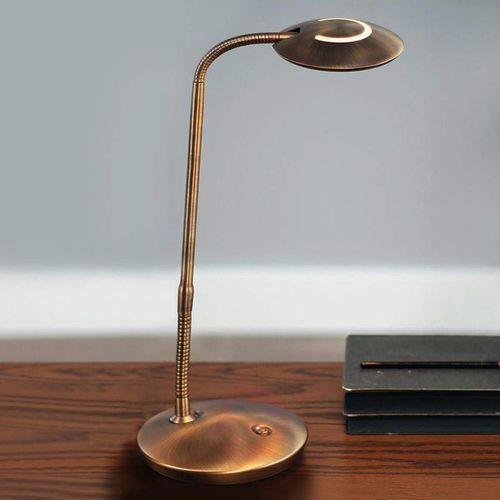 Steinhauer zenith lampa stołowa led brązowy, 1-punktowy - nowoczesny - obszar wewnętrzny - zenith - czas dostawy: od 6-10 dni roboczych (8712746116984)