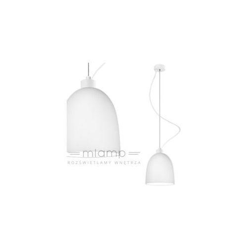 Sotto luce Lampa wisząca awa 1/s/opal matte szklana oprawa zwis biały matowy