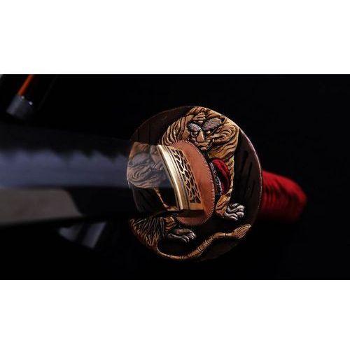 Kuźnia mieczy samurajskich Miecz samurajski katana shihozume do treningu, stal wysokowęglowa 1095 warstwowana, hartowana glinką, r767